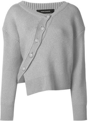 Cédric Charlier (セドリック シャルリエ) - Cédric Charlier asymmetric button front jumper