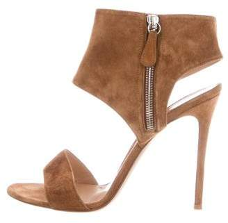 Gianvito Rossi Suede Cutout Sandals