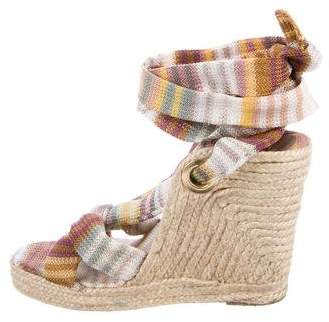 Missoni Canvas Espadrille Wedges