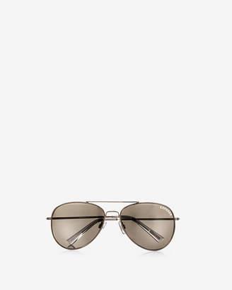 Express Silver Mirrored Aviator Sunglasses