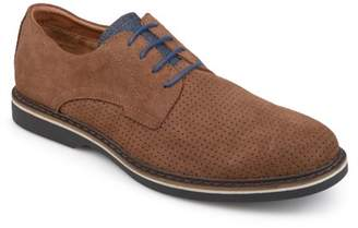 Territory Men's Perforated Lace-up Genuine Leather Suede Dress Shoes