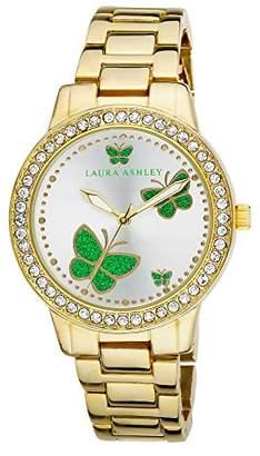 Laura Ashley Women's LA31015YG Analog Display Japanese Quartz Gold Watch $31.62 thestylecure.com