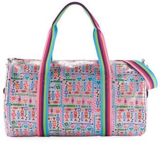 Bari Lynn Girls' Candy-Print Shimmer Duffel Bag