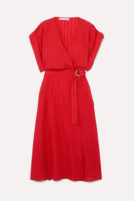 Vanessa Bruno Iron Jacquard Wrap Dress - Red