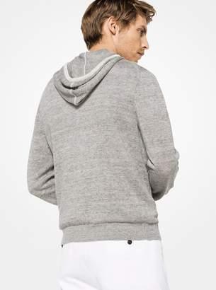 Michael Kors Linen Zip-Up Hoodie