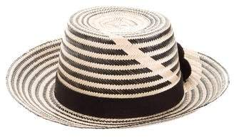 Yosuzi Striped Brimmed Hat