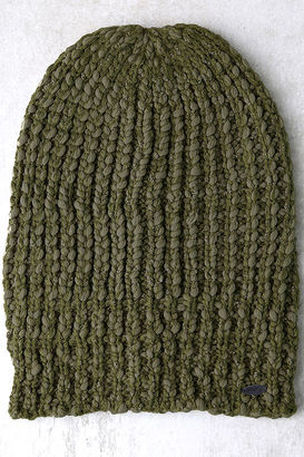O'Neill Chill Army Green Knit Beanie $24 thestylecure.com