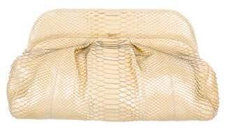 Nancy Gonzalez Pleated Python Shoulder Bag