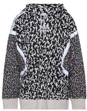 e93ff595e2c8 adidas Embroidered Printed Cotton-blend Hooded Jacket