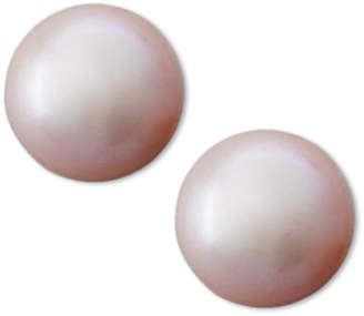 Belle de Mer Pink Cultured Freshwater Pearl Stud Earrings (8mm) in 14k Gold