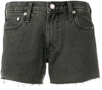 Calvin Klein Jeans frayed denim shorts