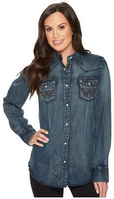 Wrangler Long Sleeve Snap Western Shirt Women's Clothing
