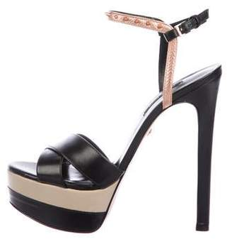 Ruthie Davis Leather Ankle Strap Sandals w/ Tags