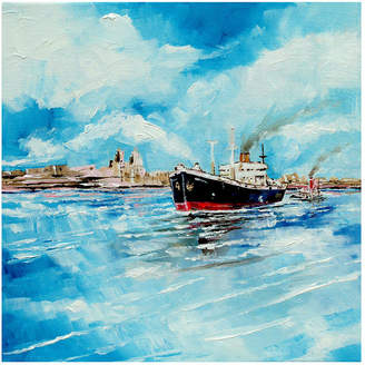 Port Canvas Stuart Roy Steamer In Painting
