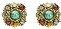 Ben-Amun Multicolor Round Clip-On Stud Earrings