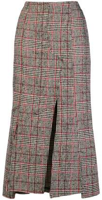 McQ checked print fitted skirt