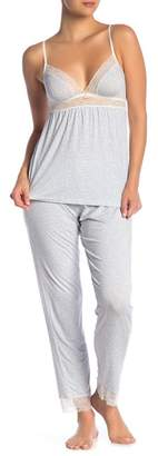 Eberjey Mink Puff Slim Pajama Pants