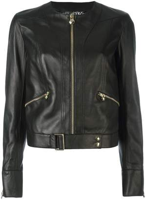 Philipp Plein belted hem jacket