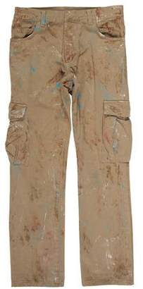 Balmain Cropped Paint Splatter Cargo Pants
