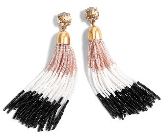 Women's J.crew Colorblock Bead Tassel Earrings