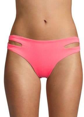 L-Space Estella Solid Cutout Bikini Bottom