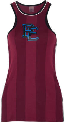P.E Nation Thunder Run Printed Cotton-jersey Tank - Burgundy