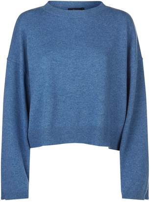Theory Cropped Cashmere Sweater