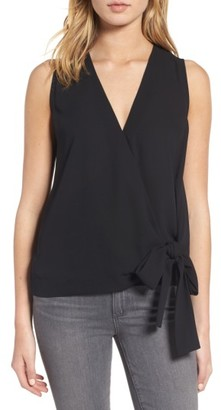 Women's Trouve Tie Front Sleeveless Top $69 thestylecure.com