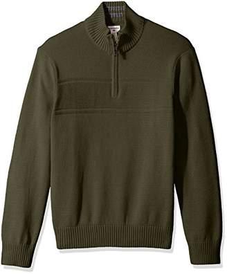 Dockers Quarter Zip Cotton Long Sleeve Sweater