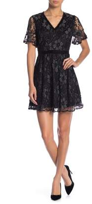 Blu Pepper Short Sleeve Lace Dress