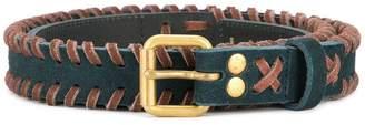 Kolor contrast braided details belt