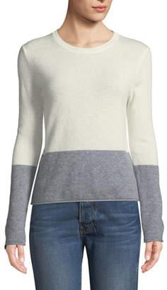Velvet Rozalie Colorblock Cashmere Pullover Sweater