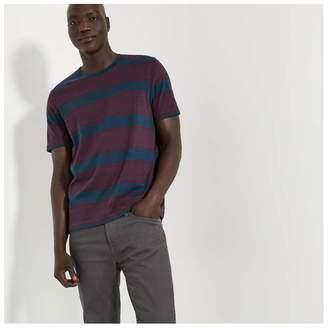 Joe Fresh Men's Stripe Tee, Dark Red (Size XL)