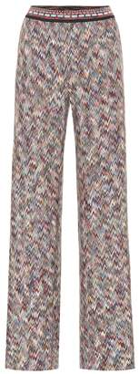 Missoni High-rise flared knit pants