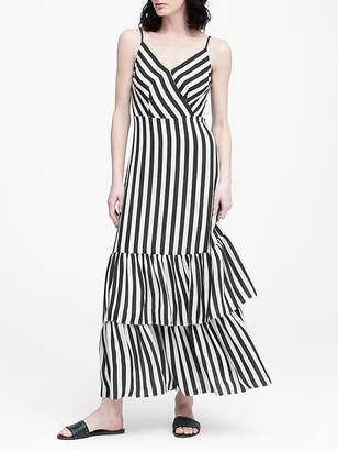 0d0353a21dd Banana Republic Petite Stripe Tiered Maxi Dress