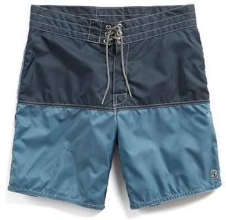 Todd Snyder Birdwell Beach Britches for Exclusive Birdwell 311 Board Shorts in Mast Blue Colorblock
