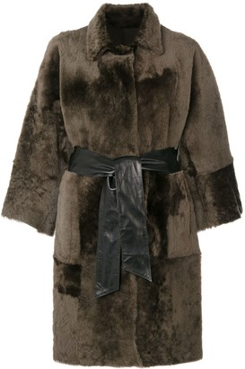 Drome oversized fur reversible coat
