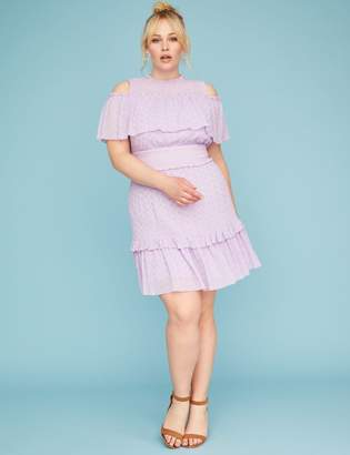 Lace Ruffle Fit & Flare Dress