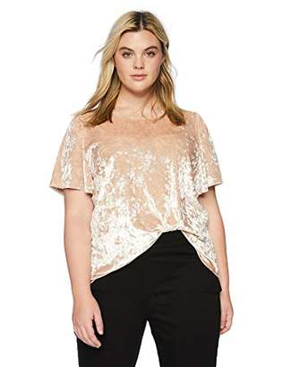 Lucky Brand Women's Plus Size Velvet TOP