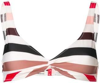 Solid & Striped stripe bikini top