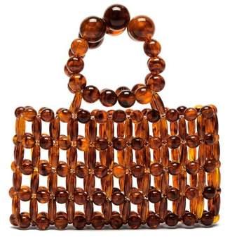 Cult Gaia Cora Tortoiseshell Effect Beaded Clutch Bag - Womens - Tortoiseshell
