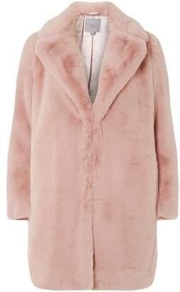 Dorothy Perkins Womens Petite Pink Faux Fur Coat