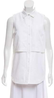 Proenza Schouler Sleeveless Button-Up Top