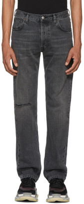 Balenciaga Grey Knee Hole Archetype Jeans