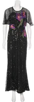 Marchesa Sequin Maxi Dress