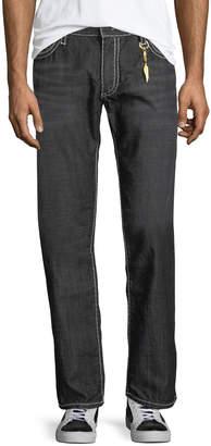 Robin's Jeans Contrast-Trim Straight-Leg Jeans