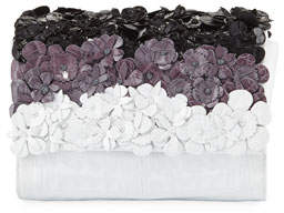 Nancy Gonzalez Carrie Small Floral Crocodile Clutch Bag