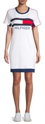 Tommy Hilfiger Performance Graphic Logo Cotton Blend T-Shirt Dress
