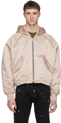 Fear Of God Pink Hooded Bomber Jacket