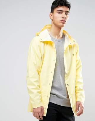 Rains Short Hooded Jacket Waterproof In Yellow